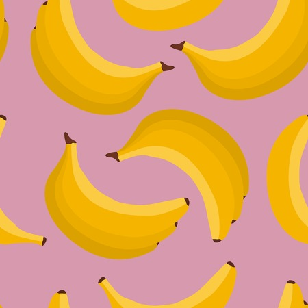 Seamless background of exotic fruit bananas. vector illustration