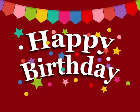 happy: Greeting card with happy birthday