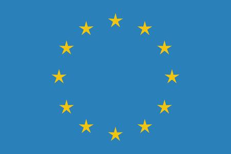 근접 촬영에서 EU 플래그