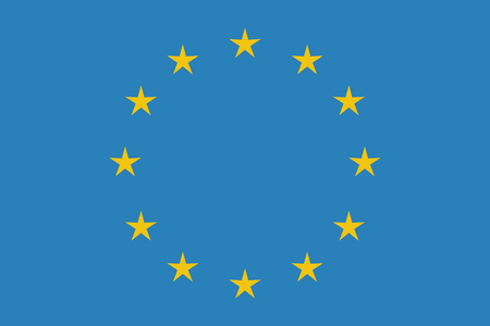 EU flag in closeup Иллюстрация