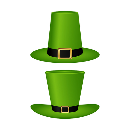 Hat cylinder on St. Patrick s Day vector illustration Illustration