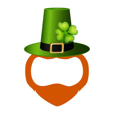 Template face leprechaun on St. Patrick s Day