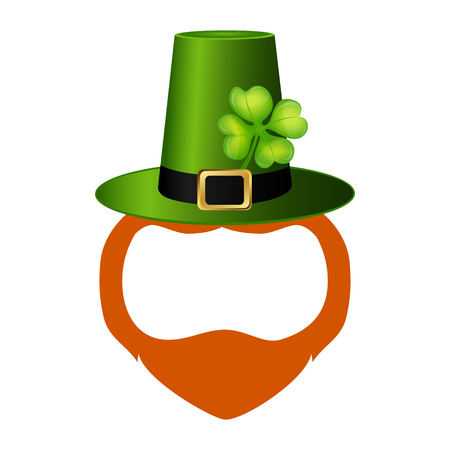 Template face leprechaun on St. Patrick s Day