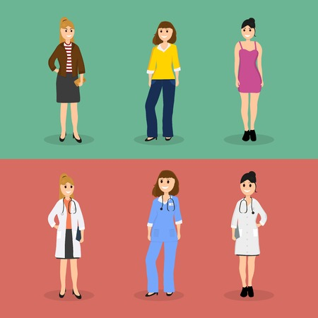 Women are young doctors and these same women in everyday life ve