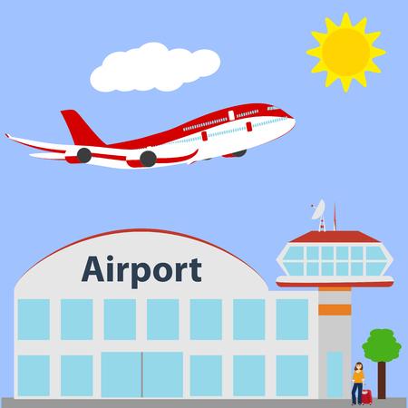 Airport icon, vector illustration. Illustration