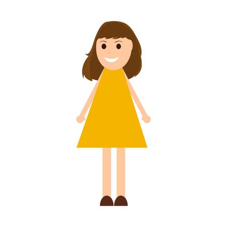 haircut: Young woman cartoon