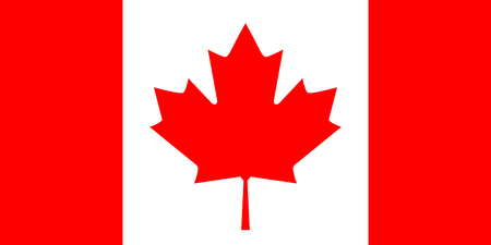 canadian flag: Flag of Canada, vector illustration.