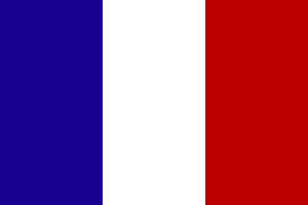 Official national flag of France. Ilustrace