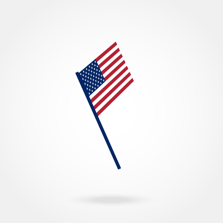 federal election: American Flag Vector illustration