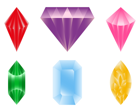 zafiro: Conjunto de piedras preciosas de cristal mineral