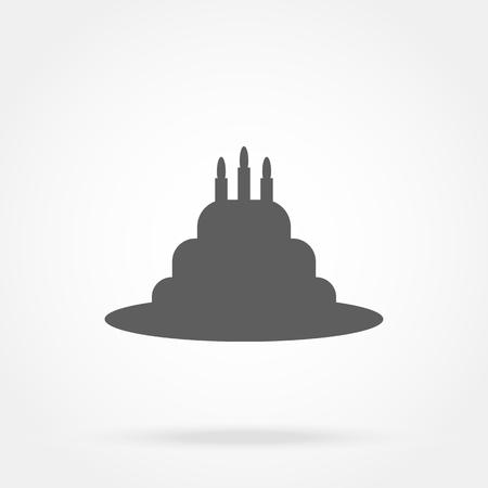 Cake icon vector Illusztráció