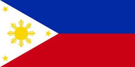federal election: Philippine flag vector Illustration