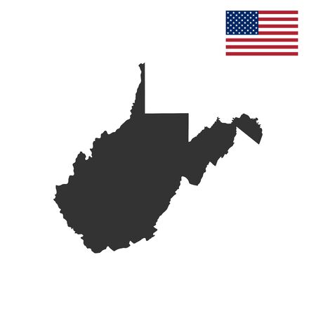 map of the U.S. state of West Virginia Illustration