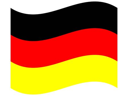 Official national flag of Germany. Illustration