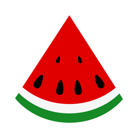rind: Slice of juicy summer watermelon