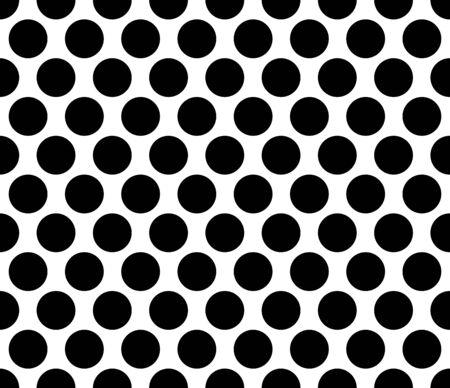 rounded circular: Polka dot Seamless pattern black background