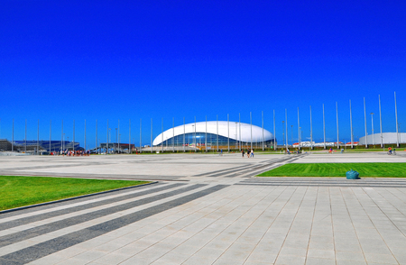 Russia - July 11 2017 Sochi Olympic Park. Ice Palace Drop