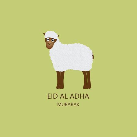 Eid al Adha Mubarak Card vector illustration
