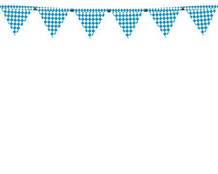 옥토버 페스트 휴가를위한 깃발이있는 화환