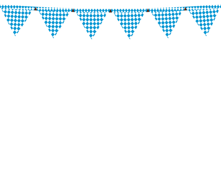 Guirlande avec des drapeaux pour les vacances Oktoberfest Banque d'images - 84436110