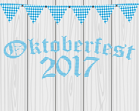 Card with flags for the Oktoberfest holiday Illustration