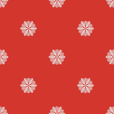 Seamless white christmas snowflakes Illustration
