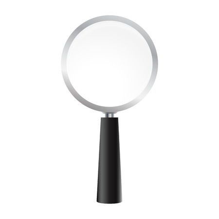Magnifying glass on a white background. Illustration
