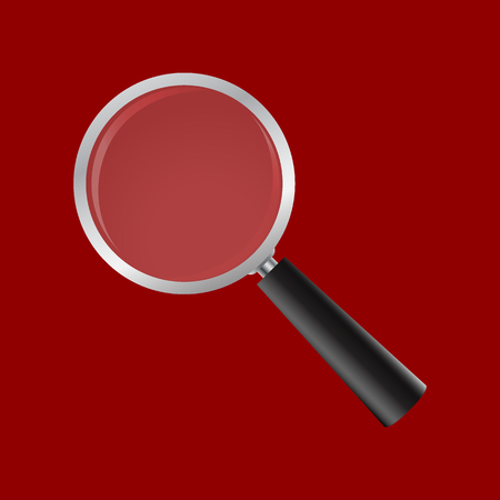 Magnifying glass on a white background. realistic magnifi