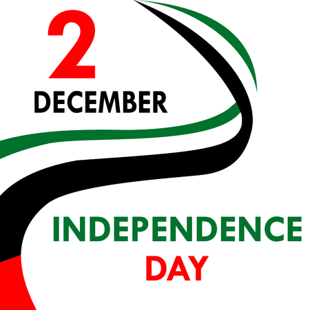 Independence Day in the United Arab Emirates 向量圖像