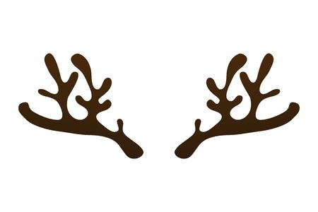 Horns of a reindeer on a white background