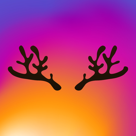Horns of a reindeer