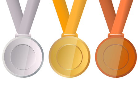 Collection of medals for the champions Illustration