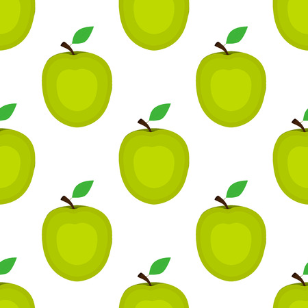 Seamless background, apple on a white background. Wallpapers wit