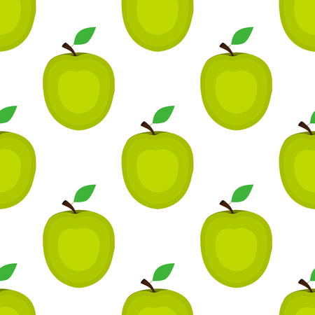 Seamless background, apple on a white background. Stock Illustratie