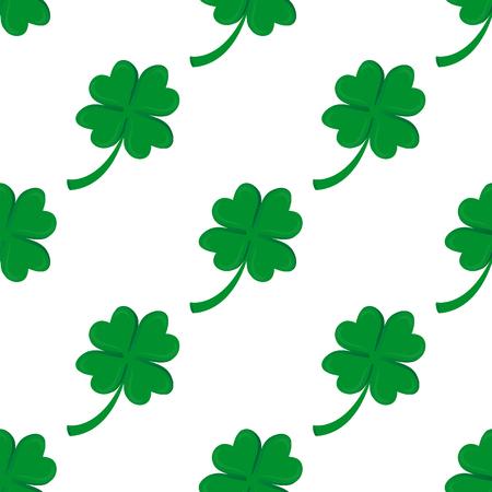 A Seamless background, Irish clover isolated on plain background.