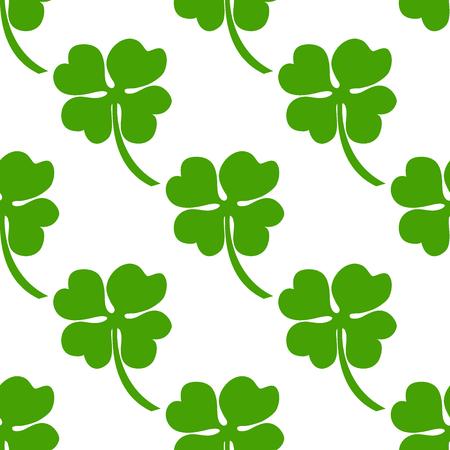 Irish clover seamless background.