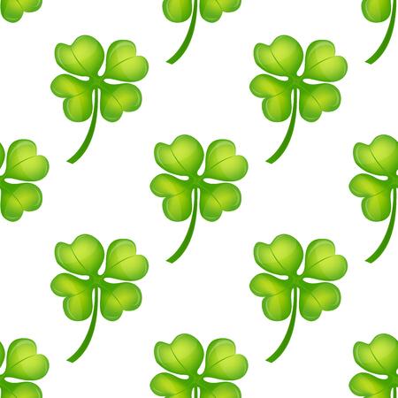 Background  Irish clover seamless pattern