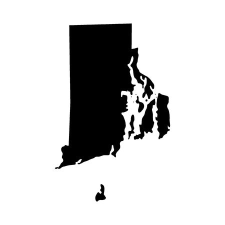 map of the U.S. state of Rhode Island Vector illustration. Vettoriali