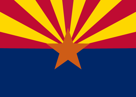 US state of Arizona flag icon