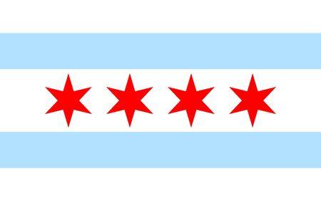 Chicago flag icon 일러스트