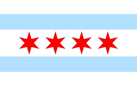 Chicago flag icon Illustration