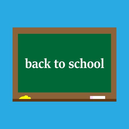Back to school,blackboard on a blue background