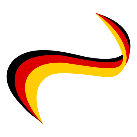 Ribbon in the color of the flag of Germany on a white background
