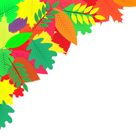 background decorated with colorful autumn leaves Zdjęcie Seryjne
