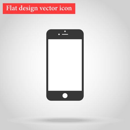 Modern stylish smartphone design of the phone. icon flat design