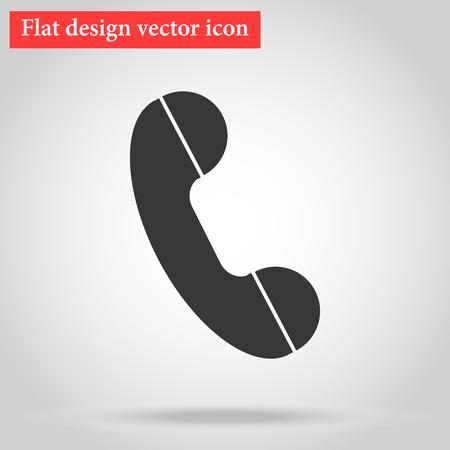 Handset of the landline home phone icon flat design. vector illustration