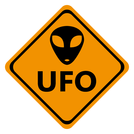 Danger road signs UFO Vectores