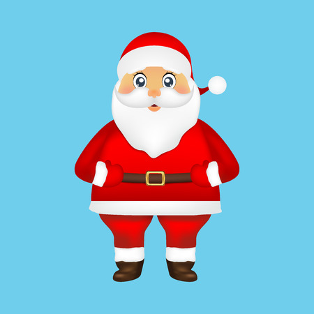 Santa Claus on a blue background holiday illustration