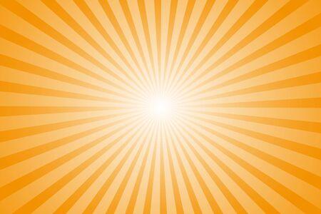 Empty template for design. Rays orange sun whole background