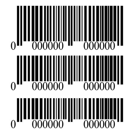 Barcode set isolated on white background, vector illustration